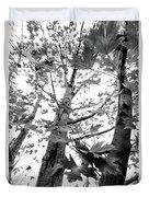 Maple Trees In Black And White Duvet Cover