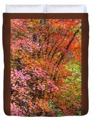 Maples In Pink Duvet Cover