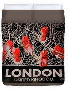 Maps From London Town Duvet Cover