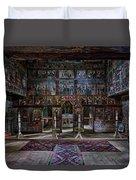 Maramures Romania Church Interior Duvet Cover