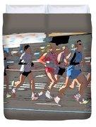Marathon Runners II Duvet Cover