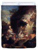 Maratti Carlo Adoration Of The Shepherds Duvet Cover