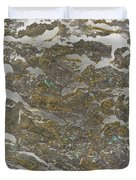 Marble Bark Colored Abstract Duvet Cover