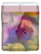 Marble Fish Duvet Cover