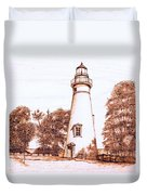 Marblehead Lighthouse Duvet Cover