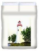 Marblehead Lighthouse Duvet Cover