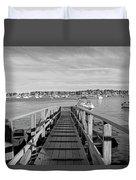 Marblehead Massachusetts Dock Duvet Cover
