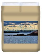 Marblehead Points To The Ocean Duvet Cover