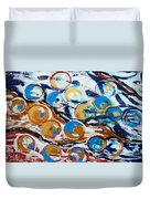 Marbles Of Life Duvet Cover