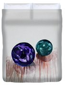 Marbles Of My Reflection Duvet Cover