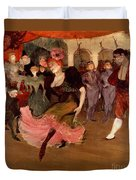 Marcelle Lender Dancing The Bolero In Chilperic Duvet Cover by Henri de Toulouse Lautrec