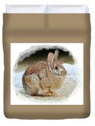 March Rabbit With Vignette Duvet Cover