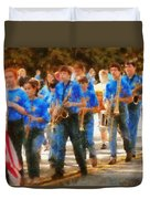 Marching Band - Junior Marching Band  Duvet Cover by Mike Savad