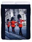 Marching Grenadier Guards Duvet Cover