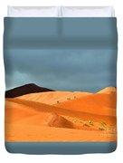 Marching On Sossusvlei Dunes Duvet Cover