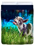 Baby Goat Kid Singing Duvet Cover