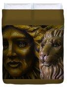 Mardi Gras Lion Duvet Cover