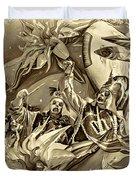 Mardi Gras - New Orleans 3 - Sepia Duvet Cover