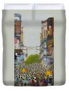 Mardi Gras On Bourbon Street Duvet Cover