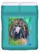 Mardi Gras Poodle Duvet Cover