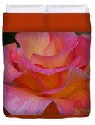 Mardi Gras Rose Macro Duvet Cover