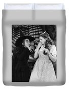 Margaret Hamilton And Judy Garland In The Wizard Of Oz 1939 Duvet Cover