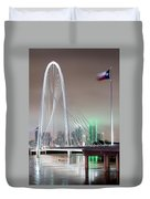 Margaret Hunt Hill Bridge Flag Duvet Cover