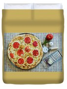Margarita Pizza With Ingredients Duvet Cover