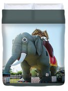 Margate New Jersey - Lucy The Elephant Duvet Cover