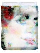 Maria Callas - Watercolor Portrait.4 Duvet Cover