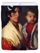 Maria Y Consuelo Gitana 1906 Duvet Cover