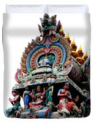 Mariamman Temple Detail 3 Duvet Cover