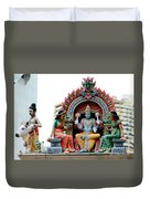 Mariamman Temple Detail 4 Duvet Cover