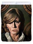Marianne Faithfull Painting Duvet Cover