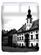 Maribor Square Black And White Duvet Cover