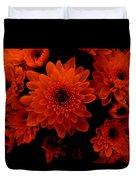 Marigolds In Orange Light Duvet Cover