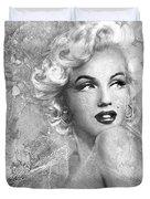 Marilyn Danella Ice Bw Duvet Cover