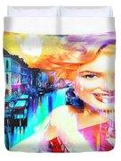 Marilyn In Italy Duvet Cover