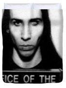 Marilyn Manson Mug Shot Vertical Duvet Cover