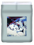 Marilyn Monroe Blue And Red Detail Duvet Cover
