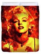 Marilyn Monroe   Golden  Duvet Cover