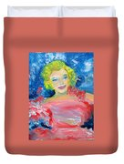 Marilyn Monroe In Pink And Blue Duvet Cover