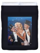 Marilyn Monroe Marries Charlie Mccarthy Duvet Cover