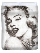 Marilyn Monroe Portrait 01 Duvet Cover