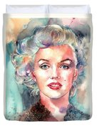 Marilyn Monroe Portrait Duvet Cover