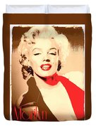 Marilyn Retro Poster Duvet Cover