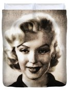 Marilyn Monroe, Vintage Actress Duvet Cover