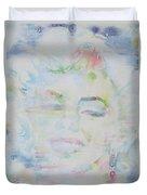 Marilyn Monroe - Watercolor Portrait.13 Duvet Cover