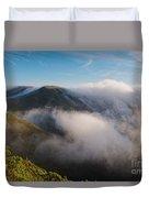 Marin Headlands Fog Rising - Sausalito Marin County California Duvet Cover