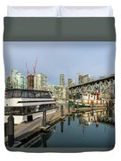 Marina At Granville Island In Vancouver Bc Duvet Cover